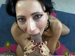 Rapacious Arabian MILF Zoey Holloway gives her BF nice deep throat
