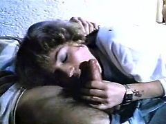 Slutty and hot bitch with nice body and light hair gets her dripping cunt fucked hard in cowgirl pose and sucks the dick. Have a look in steamy The Classic porn sex video.