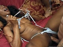 Long haired voluptuous tramp from unknown African city likes two suck two throbbing sugary joy sticks at the same time. Look at this horny old ebony gal in Fame Digital porn video!