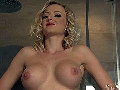 A smoking hot bitch with a rockin' body strips and fondles her tits and ass and everything that constitutes her jaw-dropping figure. Hit play and enjoy this arousing solo scene.