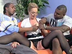 Two black cocks for filthy mom jenna