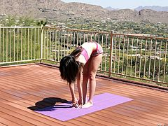 doing yoga makes her horny