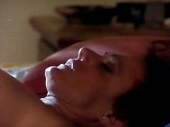 Kinky and slutty whore with dark hair and perfect shape lays on the bed with spreaded legs and gets her wet cunt licked and banged. Have a look in steamy The Classic Porn sex clip.