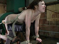 Our mistress is skilled in punishing naughty sluts such as Seda. Because a few electrodes on her ass was barely enough, Lee used a fucking machine and a lot of electricity for Seda's butt. She bent her over, inserted a dildo strapped to a sex machine in her pussy and then turned on the power!