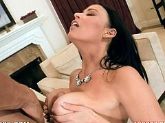 Long haired bodacious sex bomb with awesome ballrooms and big sexy ass posed doggy style and got unforgettable cunnilingus. A bit later she employed her massive boobies to give her horny guy ice boob hammering. Look at this busty babe in My XXX Pass sex video!