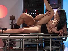 This hot woman is a scientist who want to create a universal soldier. She conducts several experiments and then gives a blowjob to the future super soldier. This man fucks her like a wild animal. This woman gets pleased like never before.