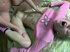 Russian teen anally creampied
