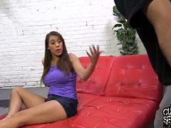 Natasha Vega banged by monster black cock banged by monster black cock. The cuckolds pain is in complete opposite of the pleasure that his girlfriend is feeling as she rides a huge black cock.