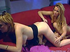 Have fun with this hot lesbian scene as these horny ladies make you pop a boner while pleasing one another with sex toys.