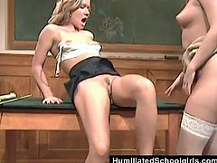 When this sexy schoolgirl stayed after class she thought she was going to learn some math, but her hot teacher showed her how to eat pussy.