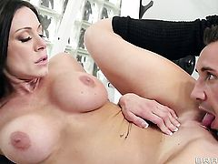 Keiran Lee stuffs his fuck stick in unthinkably sexy Kendra Lusts mouth