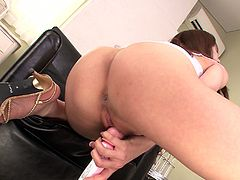 Hot and horny asian girl in high heels masturbating and enjoying her new pink sex toy. Check out Yura Kaumi in Jav HD XXX clips.
