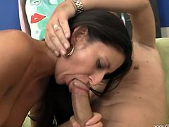 Check out this amazing hardcore sex scene right here with this fuckin' slut suckin' dick and gettin' stuffed. It's fuckin' hot!