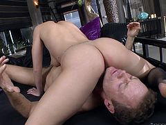 This slut's asshole is vibrating with lust and wants a fat dick so bad that the dude here has no choice but to stuff it with his hard boner. Check it out right here!