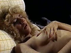 Slutty blondie whore with nice body and tits gets drilled
