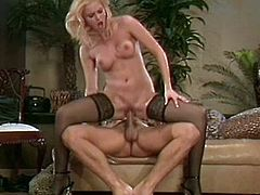 Cock sucking blonde in a rough and unforgettable fuck session