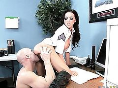 Johnny Sins bangs lovely Breanne Bensons pretty face with his schlong