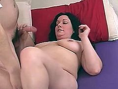 What she does first is a wild blowjob and then his huge cock is going to be poking her nasty snatch! She is feeling like in heaven.