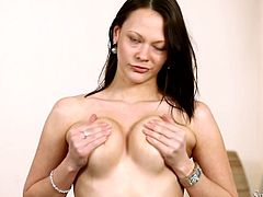 Solo fun with the horny Caren