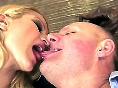 Enjoy attractive spicy blonde babe Chary Kiss doing wild things with her old friend
