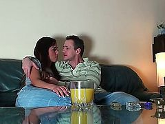 Frank does a lil drinkin and smokin with a real cute brunette, and wouldnt you know it Its not long before he has her jeans down, exposing that glorious bubble butt.