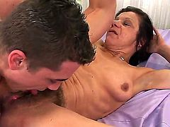 Hardcore action with a nasty granny named Ludmila and her fucker Steve Q