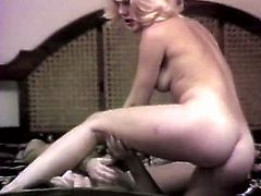 Horny and slutty whores with nice bodies play with dildo inserting it in the clit meanwhile sexy blond haired bitch gets drilled in doggystyle. Watch in The Classic Porn sex clip.