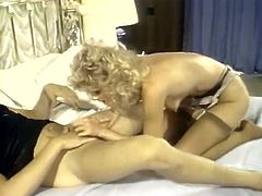 Slutty and horny bitch with light hair and sexy body gets her cunt drilled in cowgirl pose. Have a look at this gal in steamy The Classic Porn xxx clip.