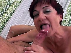 Hot scene with a crazy granny named Eva G gets a cock in her nasty and hairy hole