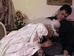 Take a look at this hardcore vintage video where this horny blonde bride is fucked by the chauffeur of her limousine.