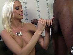 Stunning Kacey Villainess takes a huge black cock in her tight pussy