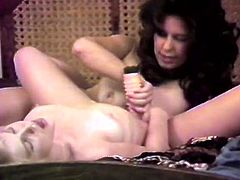 Kinky and slutty whore with nice shape gives a blowjob meanwhile bruneyye bitch gives a a sex therapy to he sexy blond haired slut. Have a look in The Classic Porn xxx clip.