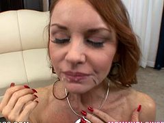 Janet Mason is a real pro when it comes to pleasing men. She gives her lover one hell of a titjob with those perfect tits of hers. Then she gives him an amazing blowjob. You won't believe just how cock talented she is, until you watching this mind-blowing video.