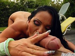 Kristina B fucks her cunt with a toy while getting her bumhole banged