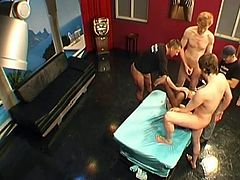 BJ nearly pissing douche