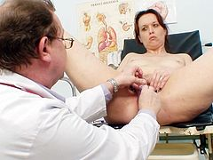 Insolent mature attends to a different gyno exam