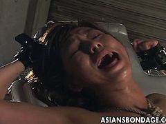 Sexy and submissive Japanese woman gets vibrated and fucked into kingdom come while assuming some very interesting positions in this breathtaking free porn video.