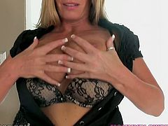 Hefty figured slutty harlot with huge fake titties is still hot. Yeah, sure her pussy is a bit dumpy, asshole is as well. But her mouth is pretty tight and makes kinky guys happy with nice deep throat. Look at this old torrid bitch in My XXX Pass sex video!