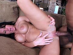 Make sure you have a look at this hardcore interracial scene where the sexy brunette Kendra Secrets is fucked by a big black cock that leaves her with a mouthful of cum.