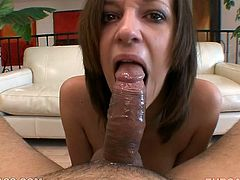 Busty wench Jada Stevens gives her lover a sloppy blowjob