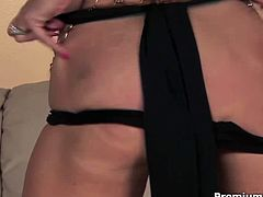 Simply because Kayla Paige radiates tremendous amount of sexual energy, people are swirling around her body as a bees swirling around honey.Superb sex black panties and golden long boots,She squeezes her piercing nipples and keep fingering her hot pussy for you.