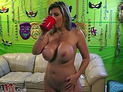 Long haired wanton whore with massive fake jugs still fucks hard. Her pussy got tired a bit. Now her mouth mouth is her main power. Deep throat is her main service. Look at this old busty MILF in MY XXX Pass sex video!