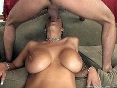 Two dudes fuck this bitch in her ass and pussy and fuckin' give her DP in this amazing hardcore scene right here, check it out!