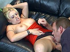 Make sure you get a load of this hardcore scene where the slutty Brittney Skye ends up with her face covered by semen after sucking and fucking a big cock.