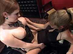This sexy action begins, when beautiful tranny goddess Tiffany Star, eats the pussy of innocent girl Mona. The pussy is dripping and aching for cock now, so Tiffany will stick it in. She thrusts hard and fast, which makes the young lady scream out with ecstasy.