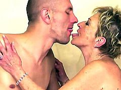 Hardcore and crazy action with a horny and old slut named Malya and her young fucker