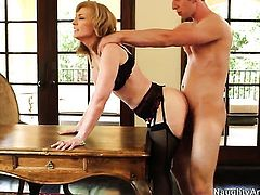 Danny Wylde seduces Nina Hartley into fucking