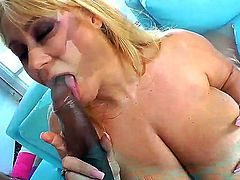 Hardcore interracial action with a busty bitch named Samantha 38g and her black fucker