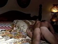 Sexy blonde wife hops on her husband's dick face to face. Enjoy watching her big palatable ass cowgirl style. The classic Porn video is well worth seeing right now.