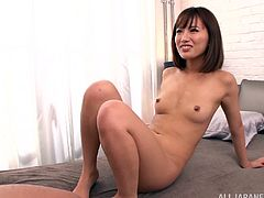 Take a look at this hardcore scene where the horny Kokone Mizutan ends up with an anal creampie after being fingered and fucked.